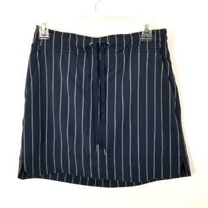 Athleta Blue White Striped Mini Skirt Skort 4 Cute